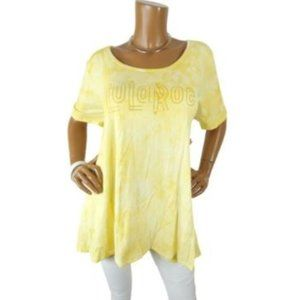 LULAROE  XL NWT Summer Tunic Shirt Yellow Tie Dye